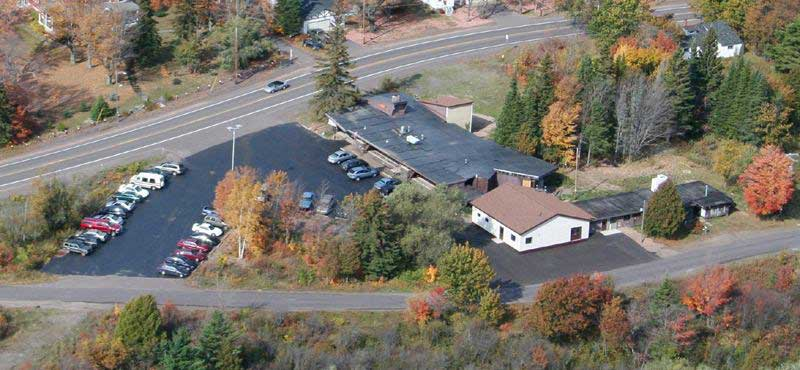 Aerial View of The Hut Inn